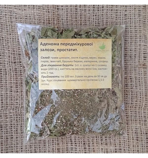 Трав'яна суміш, Аденома передміхурової залози (простатит), трав'яний, Цілюща сила трав, розсипний,80г
