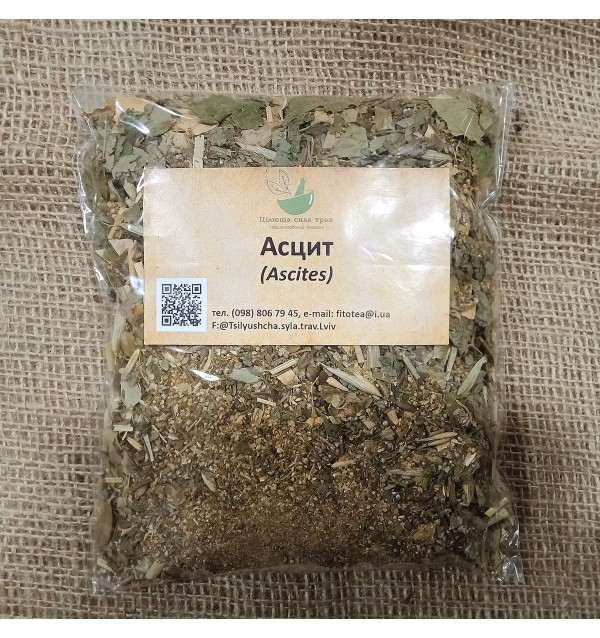 Трав'яна суміш, Асцит, трав'яний, Цілюща сила трав, розсипний,80г